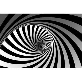 Siyah-Beyaz Geometrik Duvar Kağıdı