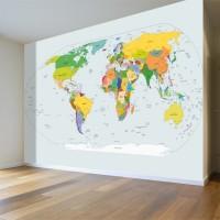 Dünya Haritası Küresel Duvar Posteri