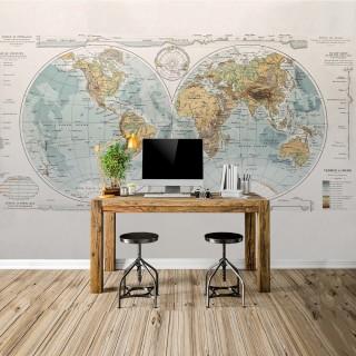 Özel Tasarım Dünya Haritası Duvar Posteri