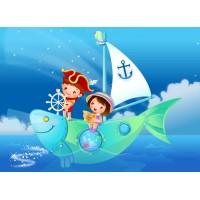 Küçük Kaptanlar Çocuk Odası Duvar Posteri