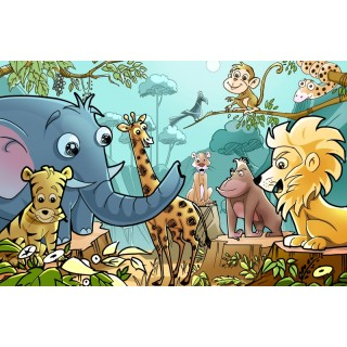 Ormanda Hayvanlar Çocuk Odası Duvar Posteri