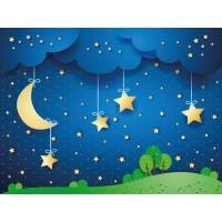 Ay Yıldızlı Çocuk Odası Duvar Posteri