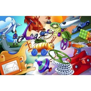 Oyuncaklı Duvar Posteri