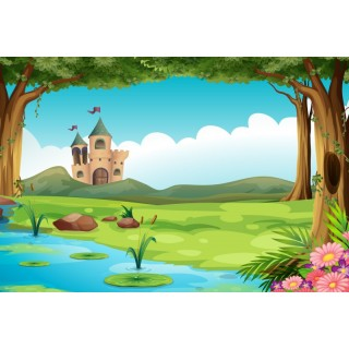 Çocuk Odası Göl Manzaralı Duvar Posteri