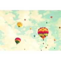 Uçan Balon Çocuk Odası Duvar Posteri