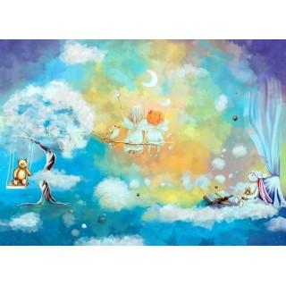 Çocuk Odası Sevimli İki Melek Duvar Posteri