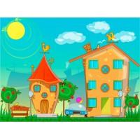 Renkli Binalar Çocuk Odası Duvar Posteri