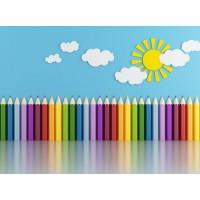 Çocuk Odası Renkli Kalemler  Duvar Posteri