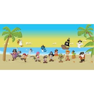 Plajda Eğlenen Korsanlar Çocuk Odası Duvar Posteri