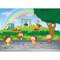 Oyun Oynayan Çocuklar Duvar Posteri