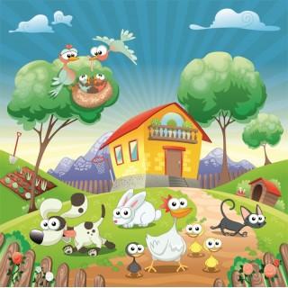 Çocuk Odası Çiftlik Duvar Posteri 2
