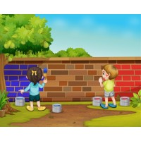 Duvar Boyayan Çocuklar Duvar Posteri 2