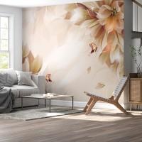 3D Çiçek Duvar Posteri