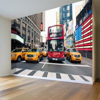 New York Sokakları Duvar Posteri