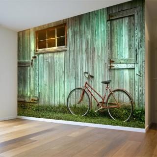 Bisikletli Duvar Posteri