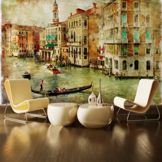 İtalya Venedik Sanat Eseri Duvar Posteri