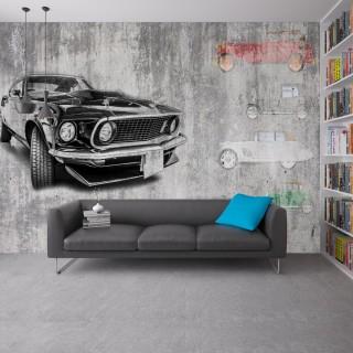 Duvar Önünde Duran Mustang Duvar Kağıdı
