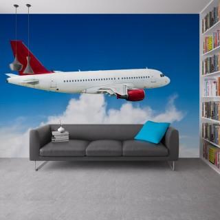 Bulutların Arasında Yolcu Uçağı Duvar Kağıdı