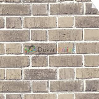 Point 3D Tuğla Desenli Duvar Kağıdı