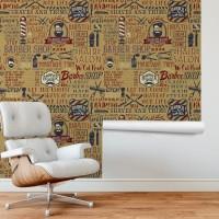 Berber Salonu Duvar Kağıdı 01