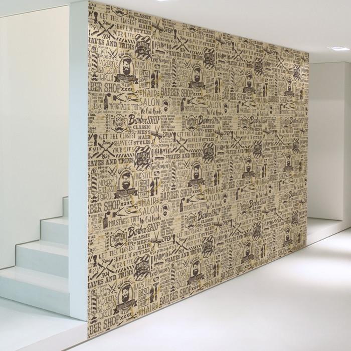 Berber Salonu Duvar Kağıdı 02