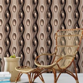 Geometrik 3D Efektli Duvar Kağıdı D906