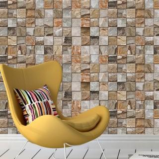 Kesme Taş Efektli Duvar Kağıdı