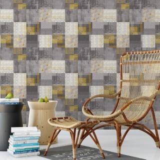 Kareler Kilim Duvar Kağıdı FD-901-01