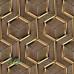Geometrik 3D Ahşap Efektli Duvar Kagidi