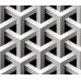 Geometrik 3D Efektli Duvar Kagidi Örgü