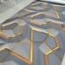 Geometrik 3D Efektli Duvar Kagidi