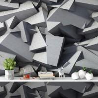 Beton Bloklar Rulo Duvar Kağıdı - Dokulu yüzey