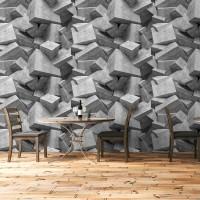 Beton Bloklar Rulo Duvar Kağıdı 2 - Dokulu yüzey