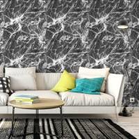 Siyah Mermer Efektli Duvar Kağıdı