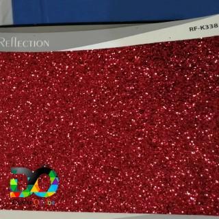 Simli Parıldayan Duvar Kağıdı - Kırmızı
