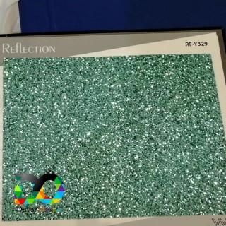 Simli Parıldayan Duvar Kağıdı - Yeşil