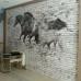 Tuğla Duvar ve Atlar