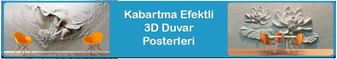 Kabartma 3D Duvar Posterleri